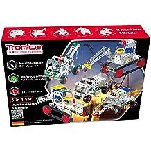 Business & Industrie 1 x Bausteine Baustein Bausatz 4 Fahrzeuge Baustellen Set Baufahrzeuge Bagger Spielzeug