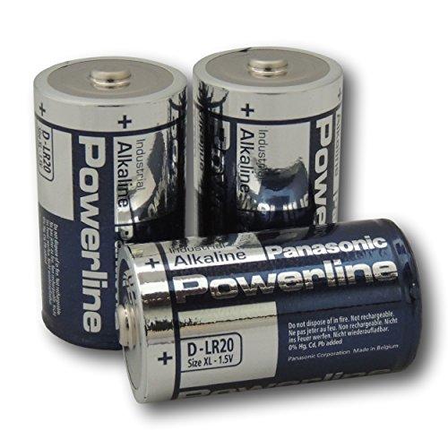 Panasonic Powerline D LR20 MN1300 Alkaline Batterien, 4 Stück