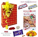 #8: Rakhi Gift for Brother : 2 Premium Rakhi with Greeting Card, Roli, Tilak, Chocolate in Amazon Free Gift Wrapping with Hand Written Message on Card.