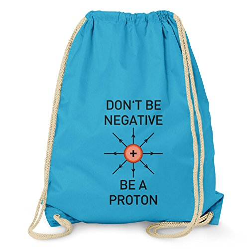 NERDO - Don't be a negative, be a Proton - Turnbeutel, (Chemiker Kostüm Kinder)