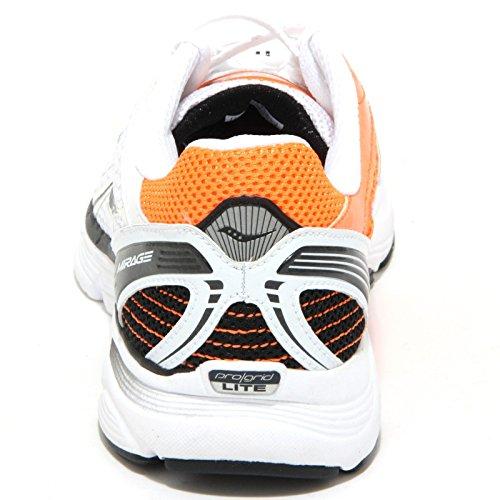 0648O sneakers uomo SAUCONY PROGRID MIRAGE bianco/arancione shoes men Bianco/Arancione