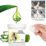 GARYOB Augen-Reinigungspads für Hunde und Katzen 100 Stück, Milde Augen-Reinigung ohne zu Reizen, Entfernt sanft Tränenstein und Speichel-Reste