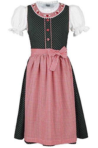 Isar-Trachten Mädchen Isar-Trachten Kinderdirndl grün mit Bluse, grün, 80