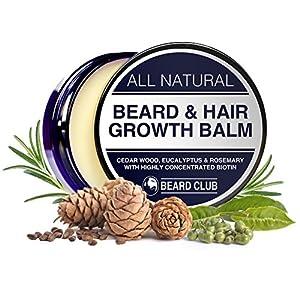 Bart und Haarwuchs Balsam   Mit hochkonzentriertem Biotin   Mit dem Duft von Zedernholz, Eukalyptus und Rosmarin   Die beste Lösung für einen ungleichmäßigen Bart