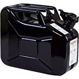 10 Liter Stahlblechkanister GGVS mit Sicherungsstift SCHWARZ Benzinkanister Metallkanister 10L