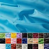 Seda Tafetán - 100% poliéster - Por metro - 27 colores (turquesa)
