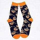 Originelle Herren-Socken von ZooArts®, 1Paar, verrücktes Design, aus Baumwolle, bequeme und atmungsaktive luxuriöse Socken Faultier