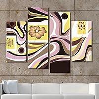 FanVass Trasferimenti su tela di arte splendidi fiori Set di 4