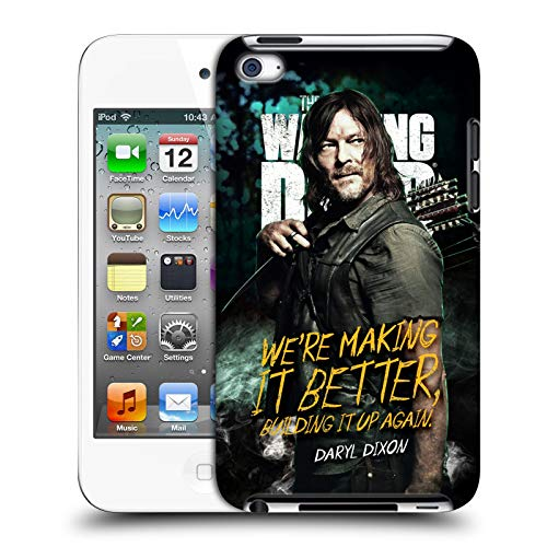 fizielle AMC The Walking Dead Daryl Staffel 9 Zitate Harte Rueckseiten Huelle kompatibel mit Apple iPod Touch 4G 4th Gen ()