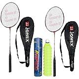 Hipkoo Jonex Ayush Badminton Kit (2 Racket And Pack Of 10 Shuttlecocks) Badminton Kit