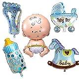 VANKER Bebé globos helio de bautizo bebé ducha para Bebé Shower Fiesta Cumpleaños -- Niño