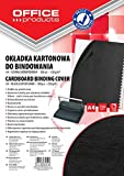 Office Products 20232525–05carátulas para encuadernar de cartón, A4, 250g/m², estructura de piel, 100unidades), color negro