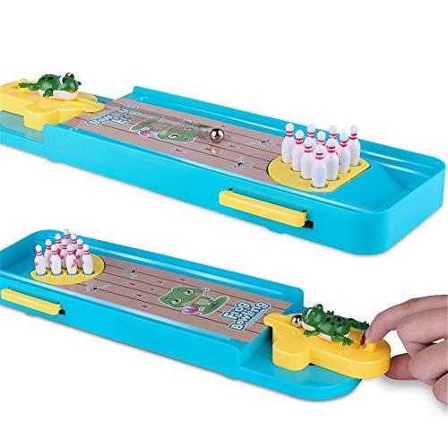 Kinder Bowling Set, Mini-Bowling-Spiel, Mini-Tisch-Bowling-Spiel Mini-Tisch-Bowling-Spielzeug Classic Desk Ball für Kinder und Erwachsene Indoor Outdoor Bowling Spiele