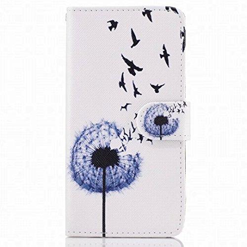 Yiizy Etui Coque Samsung Galaxy J7 (2017) / J730F etui, Pissenlit Design Pochette Coque Housse Cuir Flip Cover Silicone tpu Rabat Case Coquille Portefeuille Média Stand de Fente pour Carte Bumper Protecteur Poche