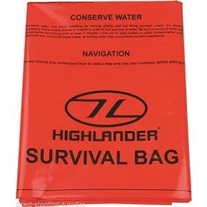 51eq8OWa%2BhL. SS300  - Highlander High Viz Bright Orange Lightweight Packable Emergency Survival Bivi Bag