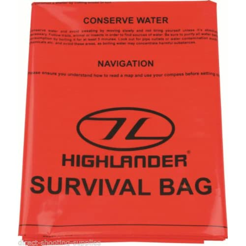 51eq8OWa%2BhL. SS500  - Highlander High Viz Bright Orange Lightweight Packable Emergency Survival Bivi Bag