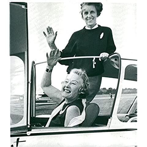Vintage photo of Faith Newmark and Lettice Curtis seen together