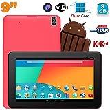 Tablette tactile 9 pouces Android 4.4 Bluetooth Quad Core 8Go Rose