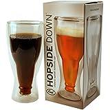 Hopside Down Bierglas - Verkehrtherum Bierkrug Humpen Bier Krug