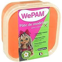Cleopatre WePAM - Pasta de porcelana fría, 145 gr, color naranja flúor
