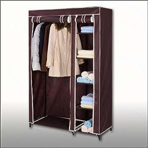 jumbo armoire pliable tissu marron 175 x 110 x 46 cm. Black Bedroom Furniture Sets. Home Design Ideas