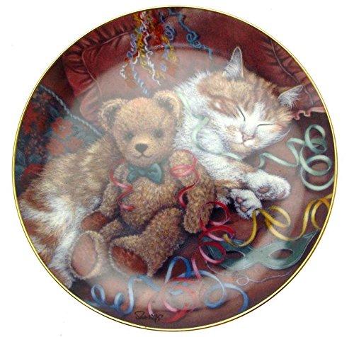 'Franklin Mint-Partys, Sue Willis Platte Teddybären, Teller Franklin Teller