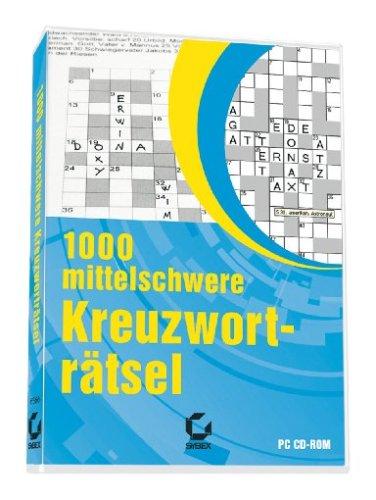 1000 mittelschwere Kreuzworträtsel