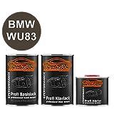 TRISTARcolor Autolack Set Dose spritzfertig BMW WU83 Frozen Grey Metallic Basislack + 2K Klarlack 2,5L