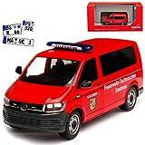 alles-meine GmbH VW Volkswagen T6 Bus Feuerwehr Technisches Zentrum Rot Personen Transporter T5 Ab 2. Facelift 2015 H0 1/87 Herpa Modell Auto mit individiuellem Wunschkennzeichen