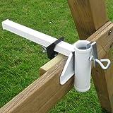 Sonnenschirmhalter für Mauern,Balkongeländer,Sonnen Schirm Mauer Geländer Halter (LHS)