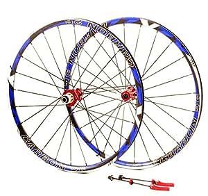 "ZZYZX carbone disc vTT 26 ""lot de 2 roues noir blanc bleu 1580 g"