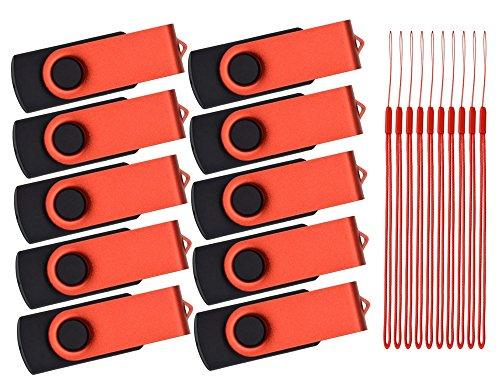 USB Flash Laufwerk 1GB 10 Stück - USB Sticks - Kepmem Rot Lustige Metall Memory Stick (Box 1 Set 8 Halloween)