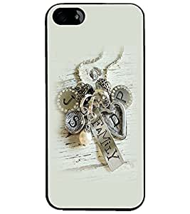 PrintDhaba Metal Design D-2265 Back Case Cover for APPLE IPHONE 4 (Multi-Coloured)