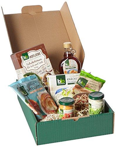 bioZentrale Guten-Morgen-Geschenkbox mit 7 Bio-Produkten (Geschenke Bio-lebensmittel-körbe,)