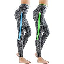 L&K-II leggins para damas pantalones deportivos largos para Training Running Yoga Fitness transpirables con cintura alta 4113