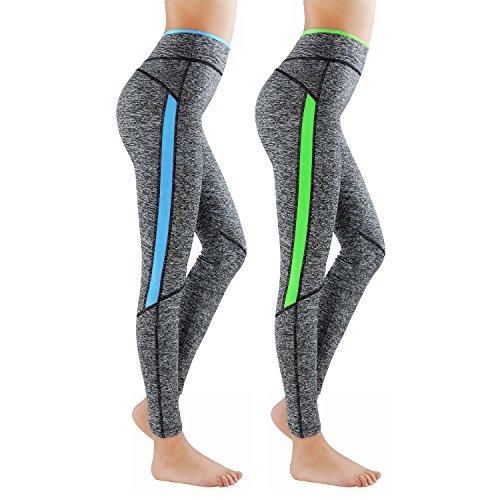 Lot de 2 GoVIA Legging pour femme Pantalon de course à...