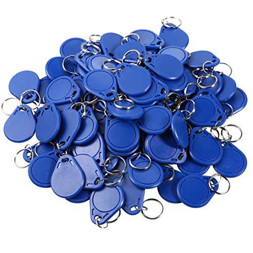UHPPOTE RFID 13.56MHz IC Karte Tag Token Keyfob Keytag Schlüsselanhänger (Farbe Blau Pack von 100) - Hid Access Control