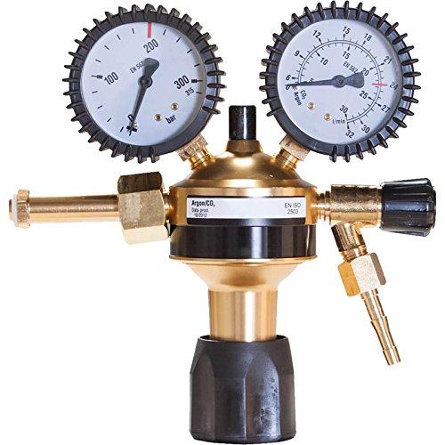 Eco Druckminderer Argon/CO2 mit 200 bar Eingangsdruck und 0-32 L/min Durchflussmenge, Gas Druckregler einstufig für MIG MAG WIG Schutzgas Schweißen