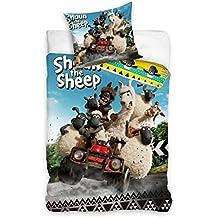 Shaun das Schaf Bettwäsche Wendebettwäsche 100% Baumwolle Bettbezug 140x 200+ Kissenbezug 70x 90