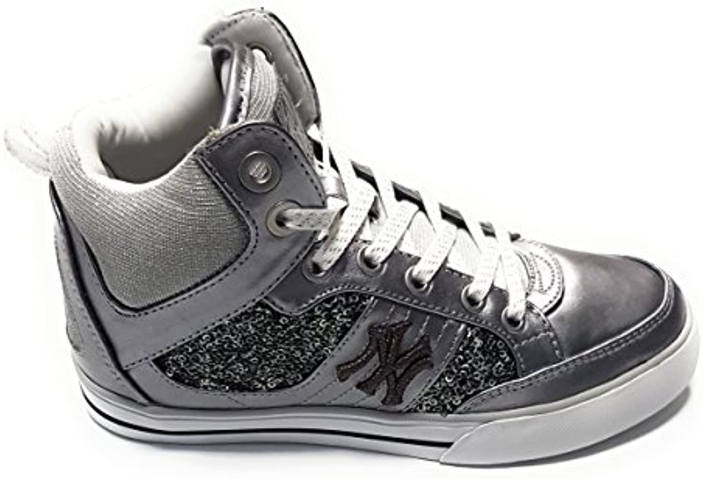 New York Yankees Herren Sneaker   MLB Women Shoes   NYY Schuhe Sneakers   H13WO01   Silber   Gr. 40