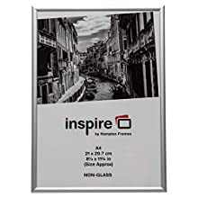 The Photo Album Company Aluminium Silber A4 21x30 cm Zertifikat Fotorahmen Nicht Glas Bildöffnung PAAFA4B