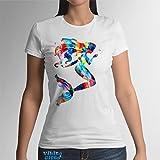 Meerjungfrau Damen T-shirt Kurzarm Baumwolle