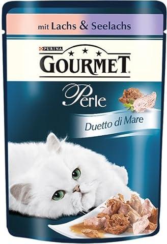Gourmet Perle Katzenfutter Duetto di Mare mit Lachs und Seelachs, 85g