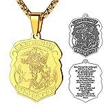 FaithHeart Collier Pendentif de l'Ange Saint Michael Bijoux Plaques Militaires de...