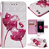 Coque iPhone 8 Case, iPhone 7, Etui en Cuir Portefeuille avec [Protection Écran en...