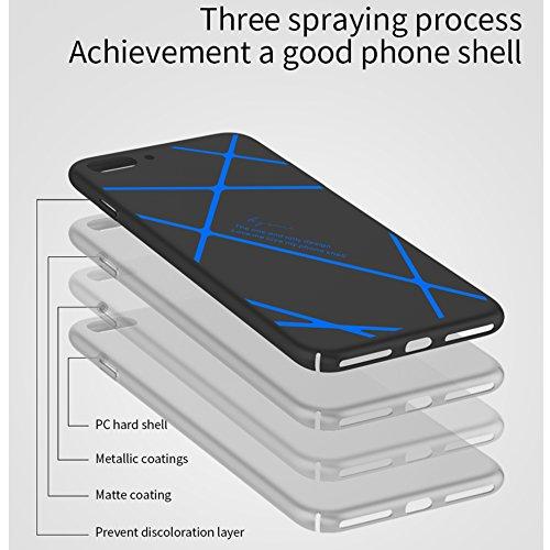 iphone 6 Silikon Hülle,SUNAVY 360-Grad Ultra-Dünn Anti-stoß Weich Schutzhülle,Inklusive ein Geschenk Gehärtetem Displayschutzfolie für Apple 6s,4.7zoll,Schwarz Blau