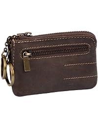 Pochette pour clés LEAS, cuir véritable, marron - ''LEAS Vintage-Collection''