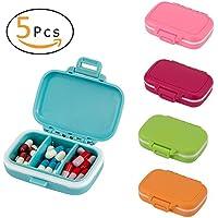 ANPHSIN 5 Stück kleine Pillendoase - feuchtigkeitsbeständige Pille Organizer mit Secure Closure preisvergleich bei billige-tabletten.eu