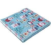 Starnearby - Servilletas de papel desechables para decoración de mesa de Navidad, 20 hojas, diseño de Papá Noel Snowman Elk