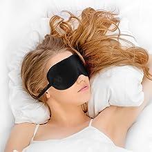 Juego De Antifaz Para Dormir Con 2 Juegos De Tapones Para Los Oídos y Bolsa De Viaje